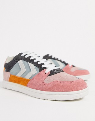 Hummel Hive Power Play in multi coloured suede