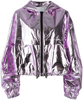 MSGM hooded jacket - women - Cotton/Polyurethane - 38