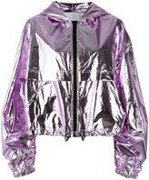 MSGM hooded jacket - women - Polyurethane/Cotton - 38