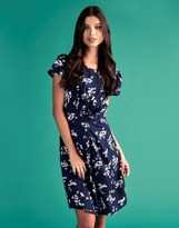 Yumi Floral Ruched Dress