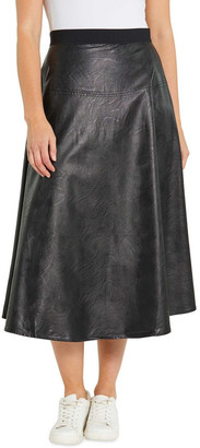 Yarra Trail Faux Leather Skirt