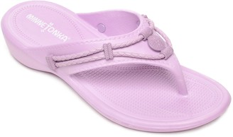 Minnetonka Thong Flip Flop Sandals - Silverthorne Prism