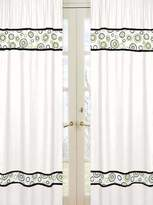 JoJo Designs Sweet Spirodot Lime and Black Window Treatment Panels - Set of 2