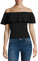 Almost Famous Sleeveless Straight Neck Blouse-Juniors