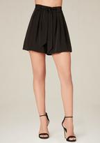 Bebe Tie Waist Pleated Shorts