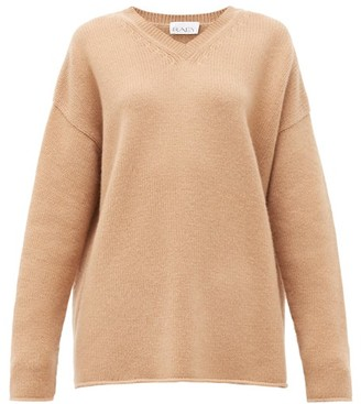 Raey Dip-hem Knitted Cashmere Sweater - Womens - Beige