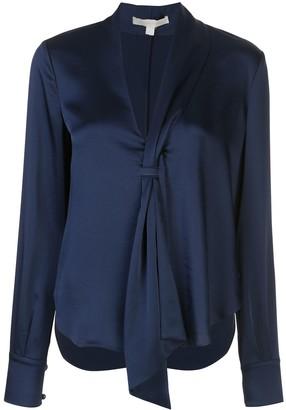 Jonathan Simkhai satin sash blouse