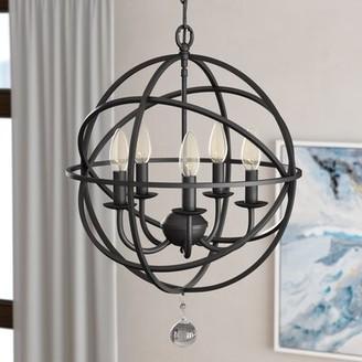 Three Posts Verlene Foyer 5 - Light Candle Style Globe Chandelier