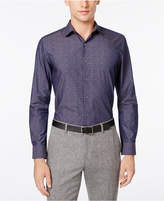 Bar III Men's Slim-Fit Navy Wine Floral Dress Shirt, Only at Macy's