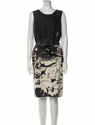 Oscar de la Renta 2011 Knee-Length Dress Black