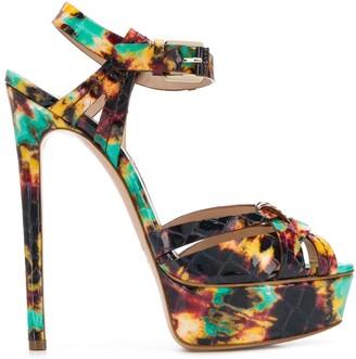 Casadei paint splatter effect sandals