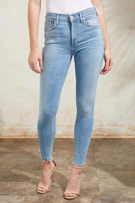A Gold E Agolde AGOLDE Sophie Skinny Ankle Jean in Facet Light Denim 29