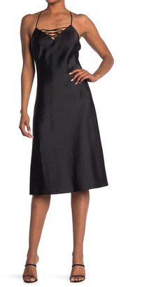 Good American The Satin Midi Dress