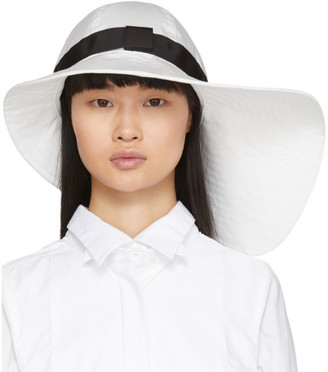 Sacai White Wide Brim Beach Hat
