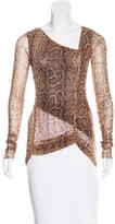 Jean Paul Gaultier Snakeskin Print Long Sleeve Top
