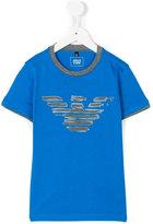 Armani Junior logo print T-shirt - kids - Cotton - 7 yrs