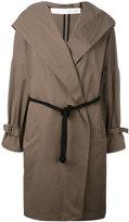 Isabel Benenato belted hooded coat - women - Cotton - 42