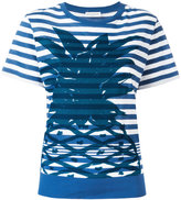 Sonia Rykiel pineapple print striped T-shirt