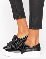 Missguided Ruffle Detail Slip On Sneaker