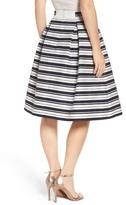 Eliza J Stripe Jacquard Midi Skirt