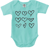 Urban Smalls Aqua Hearts Bodysuit - Infant