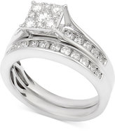 Macy's Diamond Channel-Set Bridal Set (1 ct. t.w.) in 14k White Gold