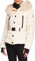 Moncler belted beige coat