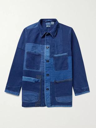 Blue Blue Japan Sashiko Patchwork Indigo-Dyed Cotton Chore Jacket