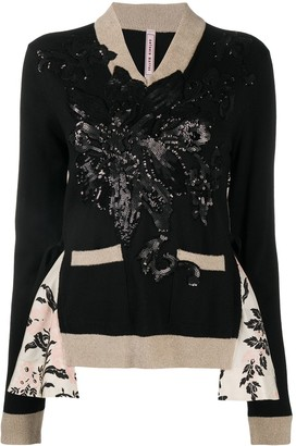 Antonio Marras Sequined Floral Jumper