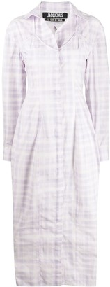 Jacquemus Valensole checked shirt dress