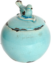 A&B Home Blue Bird Decorative Jar