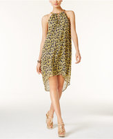 MICHAEL Michael Kors Lydia Printed High-Low Halter Dress