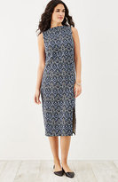 J. Jill Printed Crinkle-Knit Dress