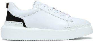 Buscemi Suede And Gold Tone-trimmed Leather Sneakers