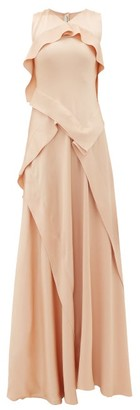Maison Rabih Kayrouz Ruffled Charmeuse Gown - Light Pink