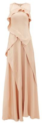 Maison Rabih Kayrouz Ruffled Charmeuse Gown - Womens - Light Pink