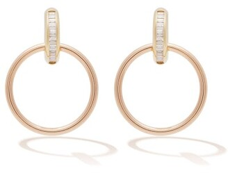 Spinelli Kilcollin Theano Diamond, 18kt Rose Gold & Gold Earrings - Womens - Gold