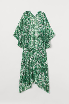 H&M Tie-belt Beach Kaftan - White