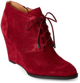 Franco Sarto Bordeaux Lennon Lace-Up Wedge Booties