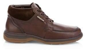 Mephisto Men's Darwin Leather Ankle Boots - Chestnut Riko Dark Brown - Size 9.5