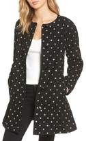 Kate Spade glitter dot wool blend coat