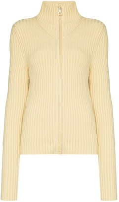 Bottega Veneta Ribbed Zip-Up Cardigan