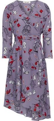 Diane von Furstenberg Pixie Asymmetric Floral-print Crepe Wrap Dress