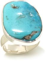 Charles Albert Jewelry Freeform Sleeping Beauty Turquoise Sterling Silver Ring