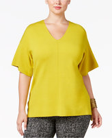 Alfani Plus Size Milano Dolman-Sleeve Top, Only at Macy's
