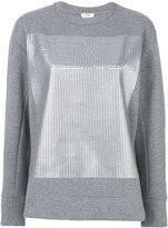 Fendi printed logo sweatshirt - women - Cotton/Polyester - 38