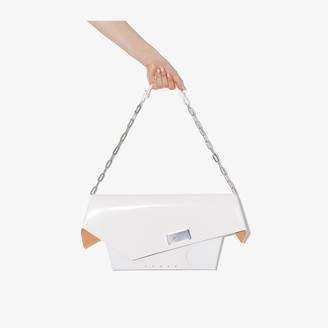 Maison Margiela white Snatched large leather bag