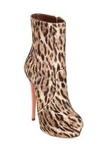 Casadei 140mm Leopard Ponyskin Neon Boots