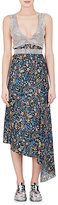 Paco Rabanne Women's Chain-Mail & Floral Silk Dress