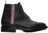 Thom Browne Black Side Zip Boots